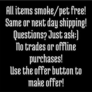 Other - Smoke Free and Pet Free Home
